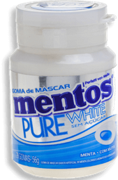 Goma de Mascar Mentos Pure White 28 Und