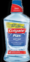 Enxaguante Bucal Colgate Plax Soft Mint 500 mL