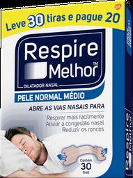 Dilatador Nasal Respire Melhor Pele Normal Leve 30 U Pague 20 U