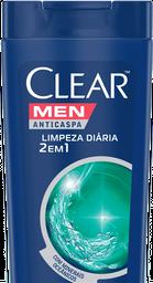 Shampoo Clear Men Anti Caspa 2 Em 1 Limpeza Diaria 400 mL