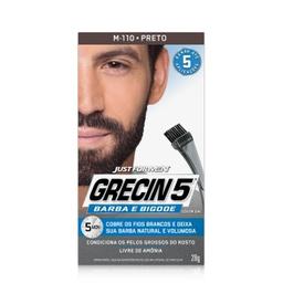 Gel Grecin 5 Coloração Preto Para Barba, Bigode E Costeletas