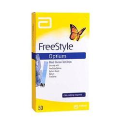 Tiras Freestyle Optium Glicose Com 50 Und