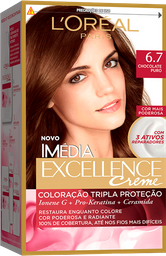 Coloração Imédia Excellence 6.7 Chocolate Puro