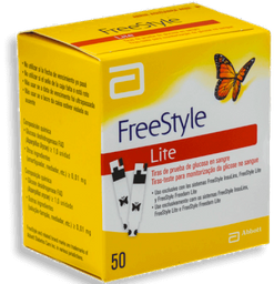 Tiras De Teste Para Glicose Freestyle Abbott 50 Unds