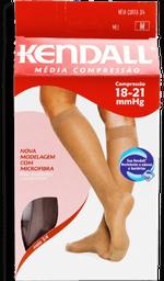 Meia Feminina 3/4 Média Compressão Cor Mel Tam M Kendall 1 Par