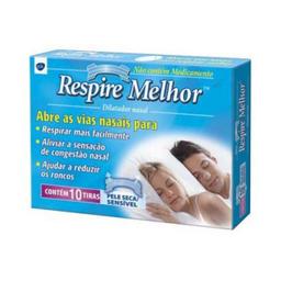 Dilatador Nasal Pele Sensível Respire Melhor 10 Und