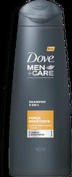 Shampoo 2 em 1 Dove Men Care Força Resistente 400mL