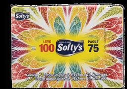 Lenços de Papel Dualette de Bolso Softy's 1 Un c 100 Un