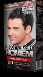 Tonalizante Biocolor Niasi Homem Castanho Médio 1 U