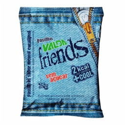Pastinha Sem Açúcar Valda Friends Embalagem Impressão Jeans