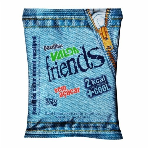 Valda Pastilha Friends Sem Açúcar Mentol Eucaliptol