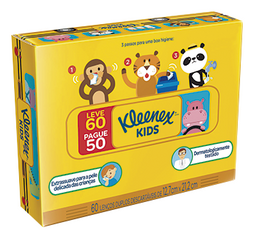Box Kleenex Clássic Leve 60 Pague 50