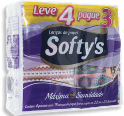 Kit Lenços de Papel Dualette de Bolso Softy's 1 Und