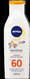 Protetor Solar Sensitive Nivea Sun Kids FPS60 125mL