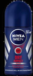 Desodorante Nivea Antitranspirante Roll On Dry Impact Plus 50mL
