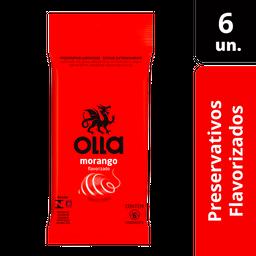 Olla Preservativo Lubrificado Sabor Morango 6 Und