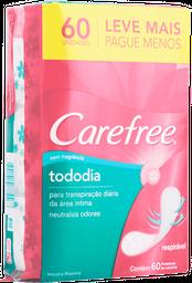 Protetor Diário Carefree Todo Dia sem Perfume 60 Unds