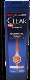 20% em 2 Unid Shampoo Clear Men Controle de Queda 400 mL