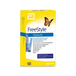 Tiras Freestyle Optium Glicose Com 100 Und
