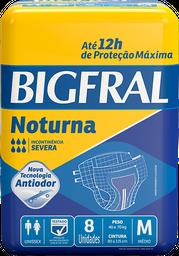 Fralda Geriátrica Bigfral Noturna M - 8 Unds
