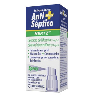 Hertz Antisséptico 21 Mg Spray Frasco