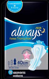 Absorvente Always Hiper Longo Noites Tranquilas Seca com Aba 10U