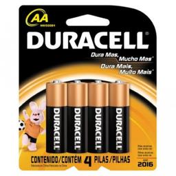 Pilhas Alcalinas Aa Duracell 4 Und