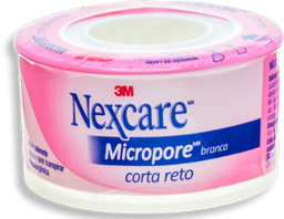 Fita Micropore Nexcare Corta Reto 25Mmx4,5M