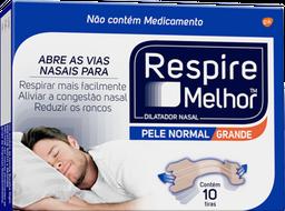 Dilatador Nasal Respire Melhor Grande Com 10 Adesivos