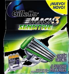 Mach 3 Sensitive Carga Com 4 Und