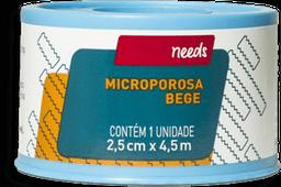 Esdrapo Microporoso Bege 2,5cm X4,5m Needs 1 Und