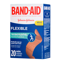Curativos Flexible Band-Aid Johnson & Johnson 20 U
