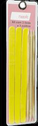 Kit Lixas de Unhas+Palitos Needs 3 Unds cada