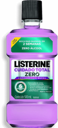 Antisseptico Bucal Listerine Cuidado Total Zero 500 mL