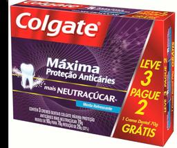 Creme Dental Colgate Neutraçúcar 70g Leve 3 Pague 2