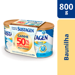 Pack Sustagen Adulto+ (50% desc 2ª um) - 2x400g Sabor Baunilha