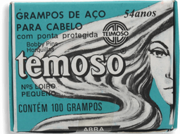 Grampo Cabelos Loiros N5 Teimoso 1 Caixa c 100 Unds