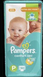 Fralda Pampers Confort Sec Tamanho P 50 U