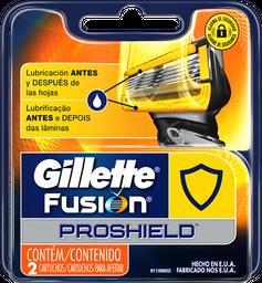Lâminas de Barbear Gillette Carga Fusion 2 Unidades