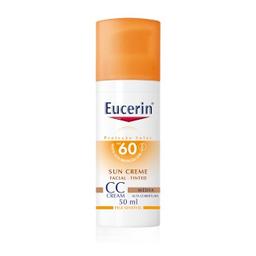 Protetor Solar Eucerin Cc Cream Tinted Médio Fps 60 50 mL