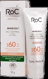 Protetor Solar ROC MINESOL Oil Control FPS 60 Tinted 50 g