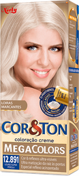 Kit Tintura Mega Colors Cor&Ton 12.891 Louro Super Perola 180g