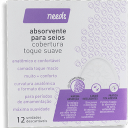 Needs Absorvente Seios Toque Suave