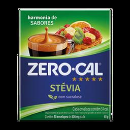 Adoçante Zero Cal Stévia Com Sucralose Com 50 Envelopes