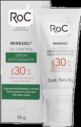 Protetor Solar Roc Minesol Oil Control Antioxidante Sérum FPS30