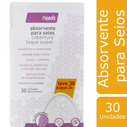 Needs Absorvente Para Seios Toque Suave