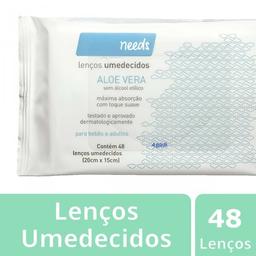 Lenços Umedecidos Needs Aloe Vera