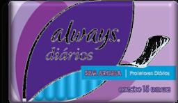 Absorvente Protetor Diario Always Regular Com 15 Und
