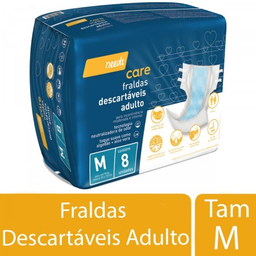 Fralda Descartável Needs Adulto Tamanho M