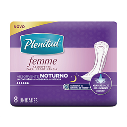 Absorvente Noturno PLENITUD FEMME - 8 unidades